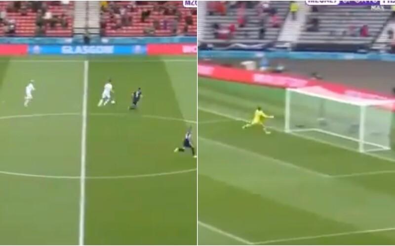 VIDEO: Brilantný gól takmer z polovice ihriska. Sleduj, ako sa český útočník vyznamenal v zápase proti Škótom.