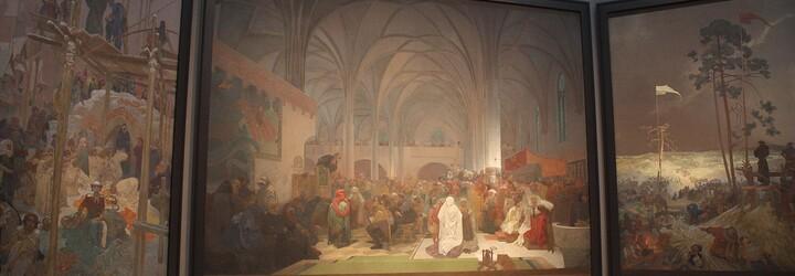 Slovanská epopej ze štětce českého malíře Alfonse Muchy byla v loňském roce třetí nejnavštěvovanější výstavou světa