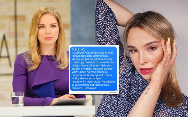 Momu nahnevala Veronika Ostrihoňová. Zdehonestovala ju vraj na Instagrame, ale chcela ju ako hostku do relácie.