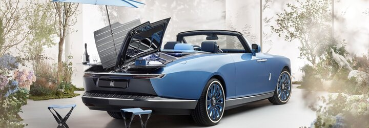 Rolls-Royce ohúril unikátnym kabrioletom so slnečníkom, ktorý môže byť najdrahším automobilom na svete