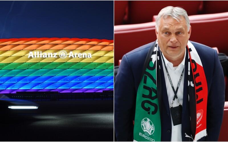 Stadion na zápas Německa s Maďarskem do barev duhy nasvícen nebude. Orbán přesto odmítl přijít na zápas.