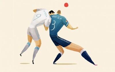 5 najpamätnejších momentov MS vo futbale v nádherných ilustráciách