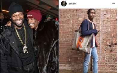50 Cent si na Instagramu dělá legraci z A$AP Rockyho Gucci tašky. Pod zveřejněnou fotkou se vyjádřili oba