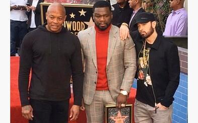 50 Cent získal hvězdu na hollywoodském chodníku slávy, pogratuloval mu i Eminem