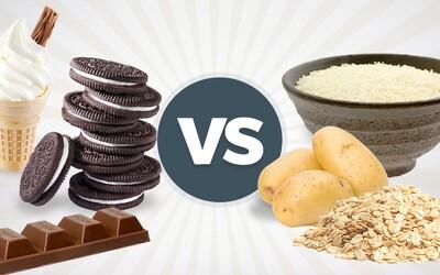50g sacharidů z oblíbené dobroty versus 50g sacharidů z rýže. Přibereme z něčeho více tuku a jsou zde nějaké rozdíly?