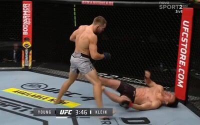 Tvrdý kop do hlavy! Ľudovít Klein ukončil svého soupeře v UFC hned v 1. kole.