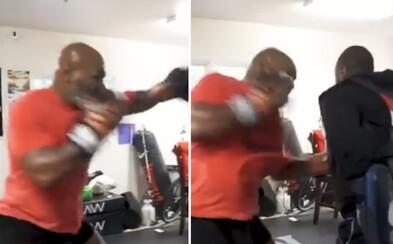 53-ročný Mike Tyson má stále extrémne rýchle a silné údery. Sleduj jeho nové video z tréningu