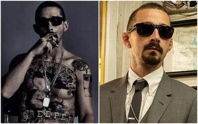 Shia LaBeouf si kvôli novému filmu nechal potetovať celý hrudník. Chcel sa viac podobať na gangstra.