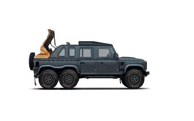 6 kolies, 3 rady sedadiel, V8-čka z Corvetty a plátená strecha. Kahn Design opäť hrotí Defender