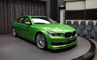 608koňová Alpina v křiklavě zeleném odstínu Java Green jako vyzývavý luxus na čtyřech kolech!
