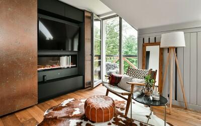 Podkrovný byt v modernom štýle na úpätí lesa. Zabudneš v ňom na všetky problémy a možno ti prinesie aj pasívny príjem