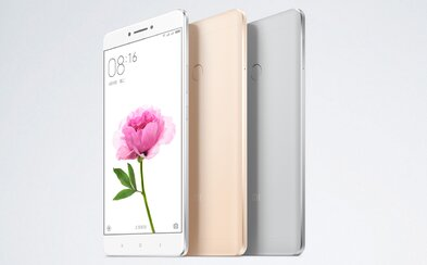 """6.44"""" displej, baterie s kapacitou 4850 mAh a 4GB RAM. Xiaomi představilo phablet Mi Max s hliníkovým tělem"""