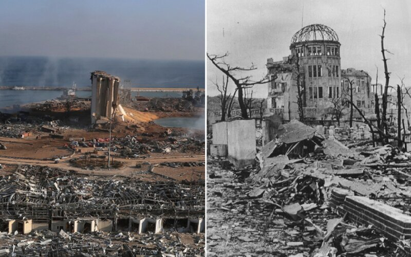 Bejrút vs. Hirošima. V epicentre výbuchov prežila zakaždým jediná budova, stavali ju Česi.