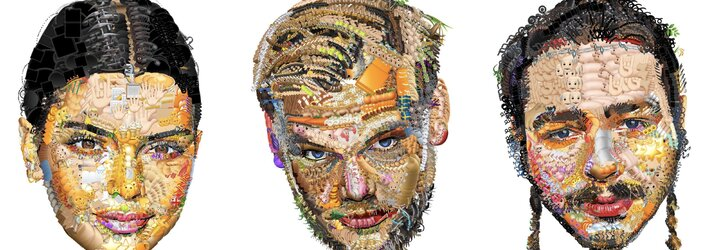 Raper vytváří realistické portréty celebrit jen za pomoci Apple emotikonů
