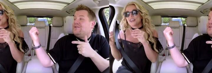 Znovuzrozená Britney Spears se nechala přemluvit ke karaoke s Jamesem Cordenem. V hotelech často využívá nevhodné pseudonymy