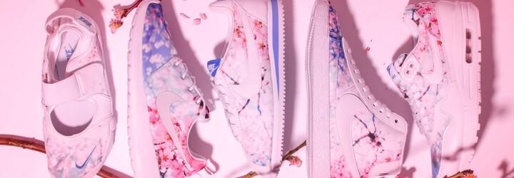 Rozkvetlé sakury v jarní sérii tenisek Nike pro dámy