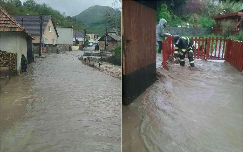 FOTO: Záplavy sužujú čoraz väčšiu časť Slovenska, SHMÚ hlási povodňové výstrahy v mnohých okresoch.