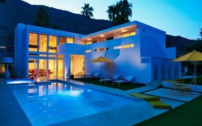 Moderná rezidencia neďaleko púšte v celoročne horúcej Kalifornii