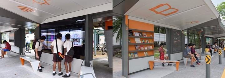 Knihy, hojdačky aj strešná záhradka. Najlepšia autobusová zastávka najnovšie stojí v Singapure
