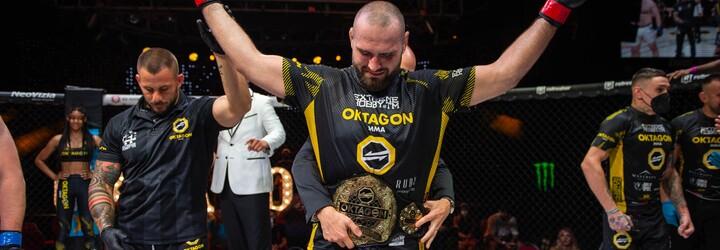 OKTAGON má nového šampióna tažkej váhy: Jedným tvrdým úderom súperovi zlomil nos