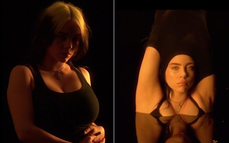 Billie Eilish se svlékla do spodního prádla. Na videu kritizuje každého, kdo ji soudí kvůli tomu, jak vypadá a jak se obléká.