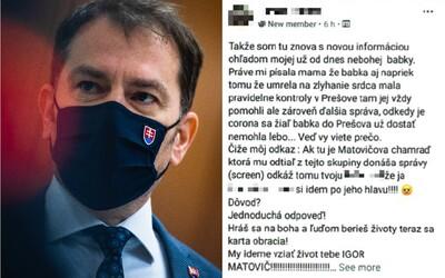 Muž sa vyhrážal Matovičovi zabitím a odrezaním hlavy na Facebooku, hrozí mu trojročné väzenie.