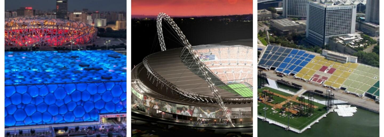 7 fascinujúcich štadiónov, ktoré nemajú ďaleko od umeleckých diel