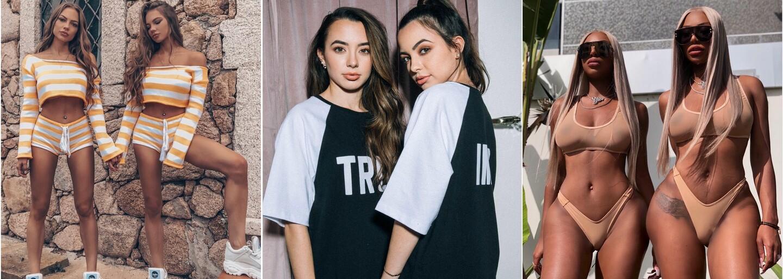 7 najkrajších ženských dvojičiek na Instagrame. Tieto identické krásky sú mužským snom