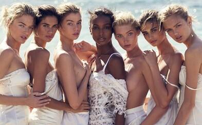 7 spoře oděných andílků Victoria's Secret hrdě ozdobilo obálku španělského Vogue