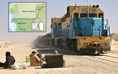 700 kilometrov dlhá železnica, po ktorej jazdia extrémne vlaky. Pre Mauritániu je životne dôležitá