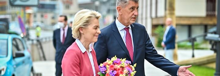Babiš přivítal von der Leyen v Praze. Česko by mohlo z evropského plánu obnovy získat až 180 miliard korun