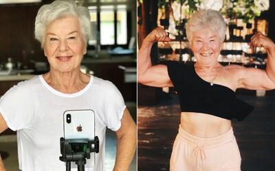 73leté babičce koupila dcera iPhone. Nabrala díky němu svaly a inspiruje lidi i na Instagramu