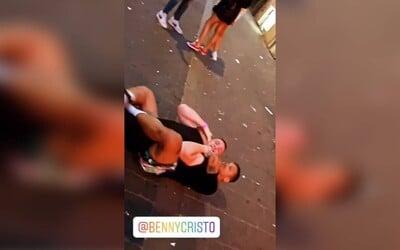 """VIDEO: Ben Cristovao byl v Brně vyzván na """"sparring"""" čtyřmi muži. """"Rozdal jsem dvě submise a armbary, byl jsem obezřetný,"""" řekl."""