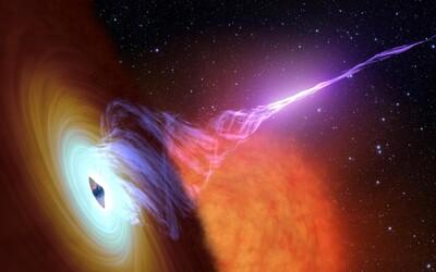 Obrovská čierna diera pohltí všetko vo svojom okolí. Ide o rekordéra, je 34 miliárdkrát väčšia ako naše Slnko.