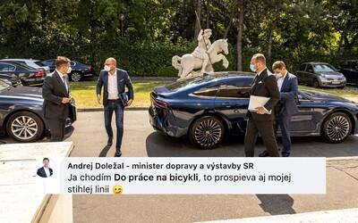 Závidíš, čo? Sulík si uťahoval z ministra dopravy, ktorý obdivoval jeho vodíkové auto. Doležal mu odpovedal trefne.