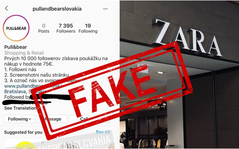 Slováci naleteli na falošné súťaže na Instagrame. Mysleli si, že vyhrajú poukážky do Zary či Pull&Bear.