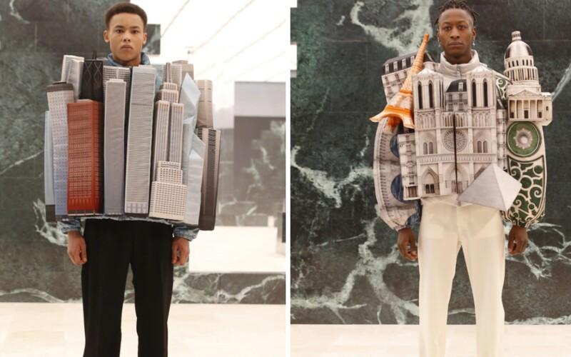 Keď nemôžeš ísť do mesta, obleč si ho. Virgil Abloh spojil módu a architektúru v najnovšej kolekcii pre Louis Vuitton.