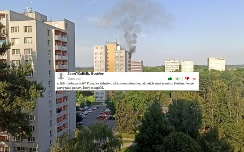 Rasistickí Češi komentujú tragický požiar z Bohumína, kde zomreli aj deti. Špekulujú, že sa jednalo o Rómov