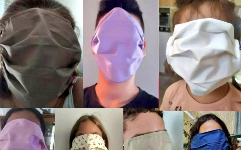 Řecká vláda poslala dětem roušky přes celý obličej, lidé se baví.