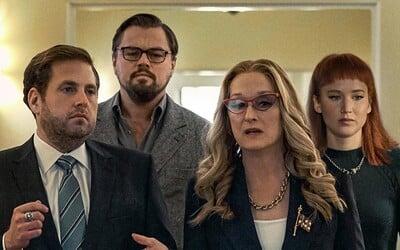 Leonardo DiCaprio a Jennifer Lawrence zachraňují planetu před asteroidy ve vtipné sci-fi komedii od Netflixu