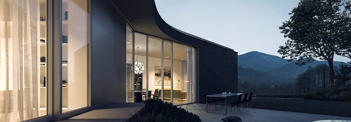 Čisté linie a luxus v kombinaci s modernou. Mladí čeští architekti představují bydlení snů s výhledem na Beskydy