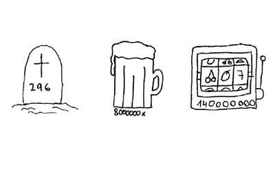 8 milionů vypitých piv, 2 miliony souloží a až 600 trestných činů. Co všechno se v České republice stane za 24 hodin?