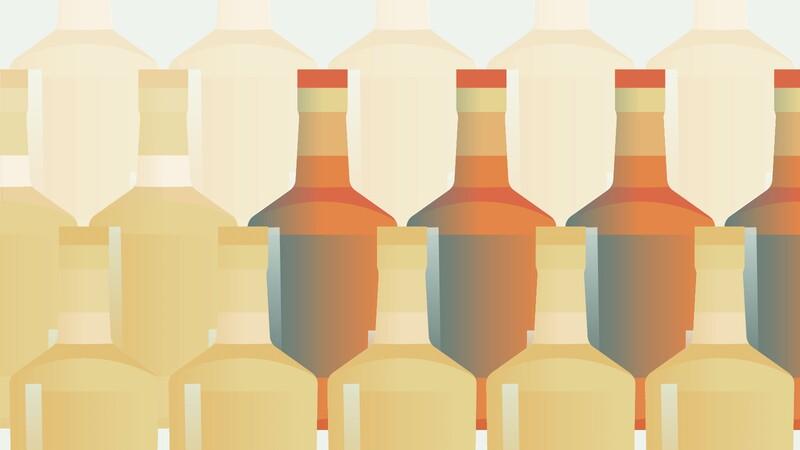 Která z následujících položek obsahuje největší množství alkoholu?