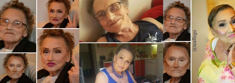 80letá Livia poprosila svou vnučku o svěží kosmetickou přeměnu a internet si ji zamiloval. Věk tedy zůstává pouze číslem