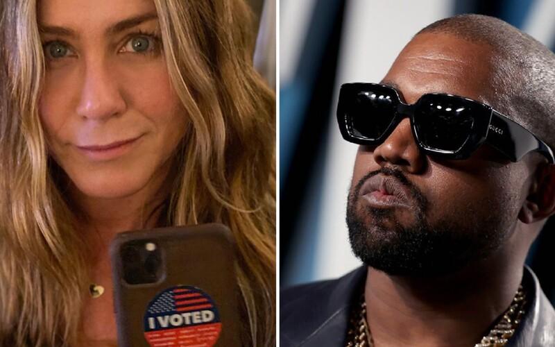 Jennifer Aniston odkazuje svojim fanúšikom, že nie je vtipné hlasovať za Kanyeho v prezidentských voľbách.