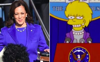Podle fanoušků Simpsonovi opět předpověděli budoucnost: Autoři seriálu prý dávno tušili, že viceprezidentkou bude Kamala Harris.