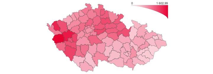 Mapa okresů ČR: Prohlédni si území, které bys po dobu tři týdnů neměl opouštět