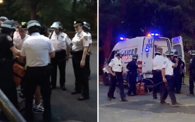 Video ukazuje, ako policajti v New Yorku zatkli aj kuriéra roznášajúceho jedlo. Pravdepodobne protiprávne