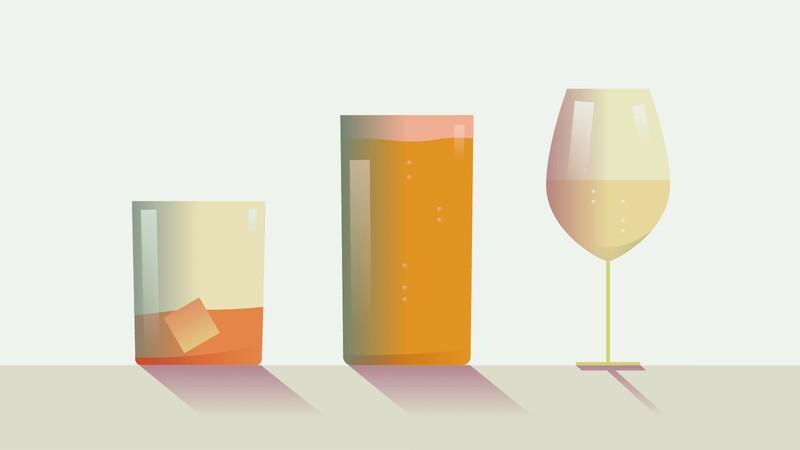 Pokud budete míchat pivo, víno a tvrdý alkohol dohromady, opijete se ještě rychleji.