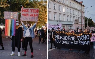 """""""Držte svoje doktríny mimo mojej vagíny!"""" kričali ľudia na pochode Nebudeme ticho. Reagovali tým na Záborskej návrh (Reportáž)"""